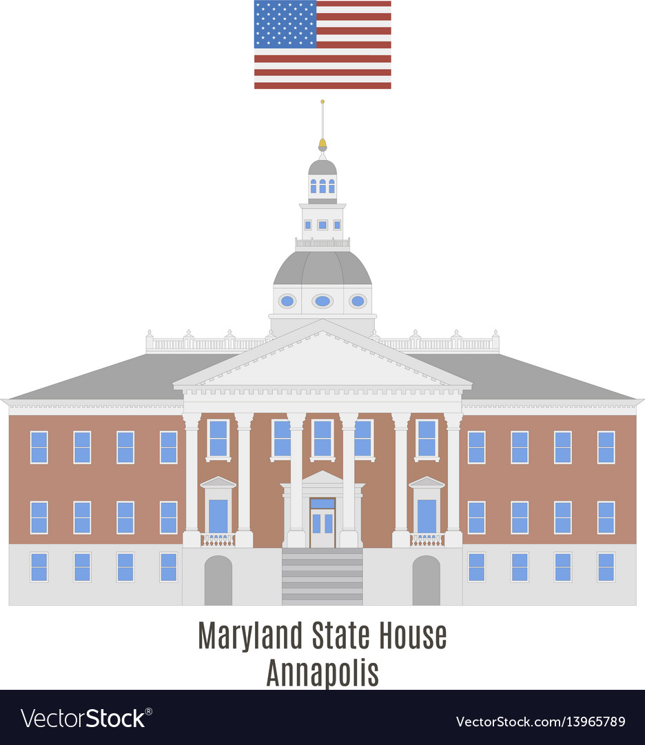 Maryland state house vector image