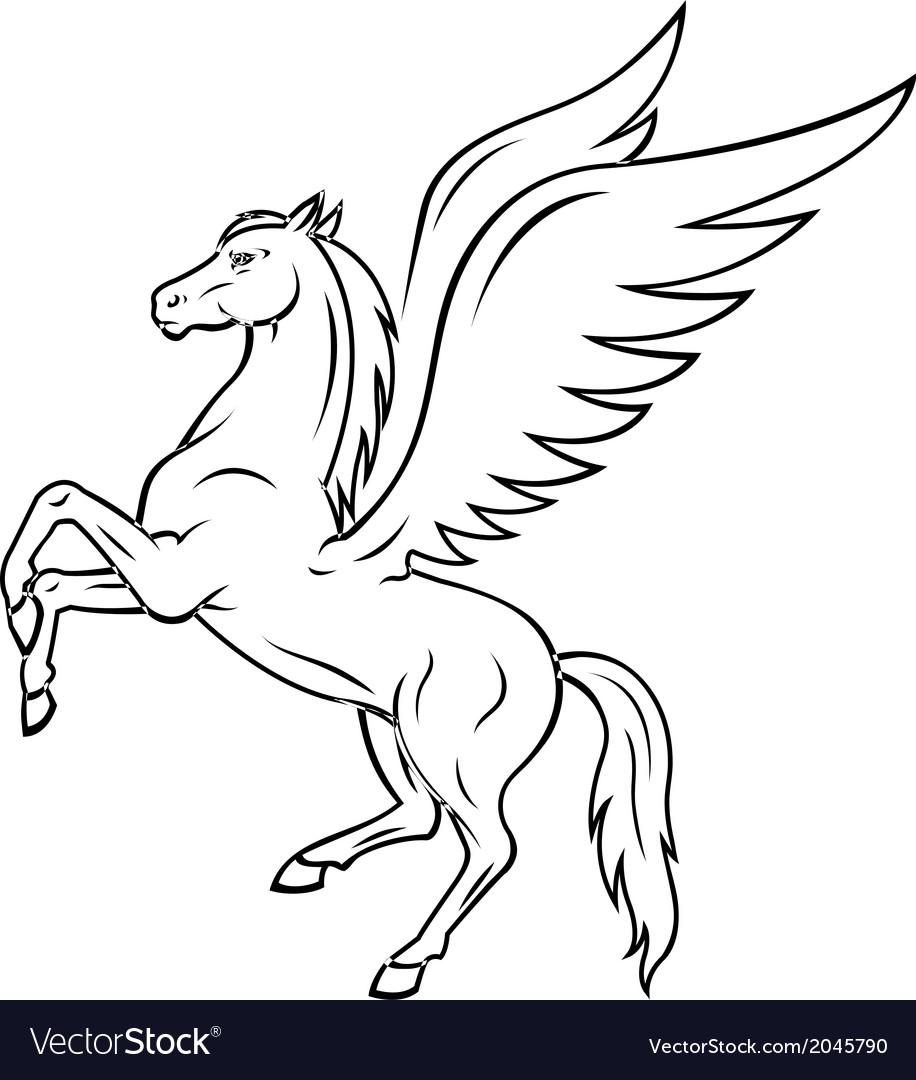 pegasus horse royalty free vector image vectorstock