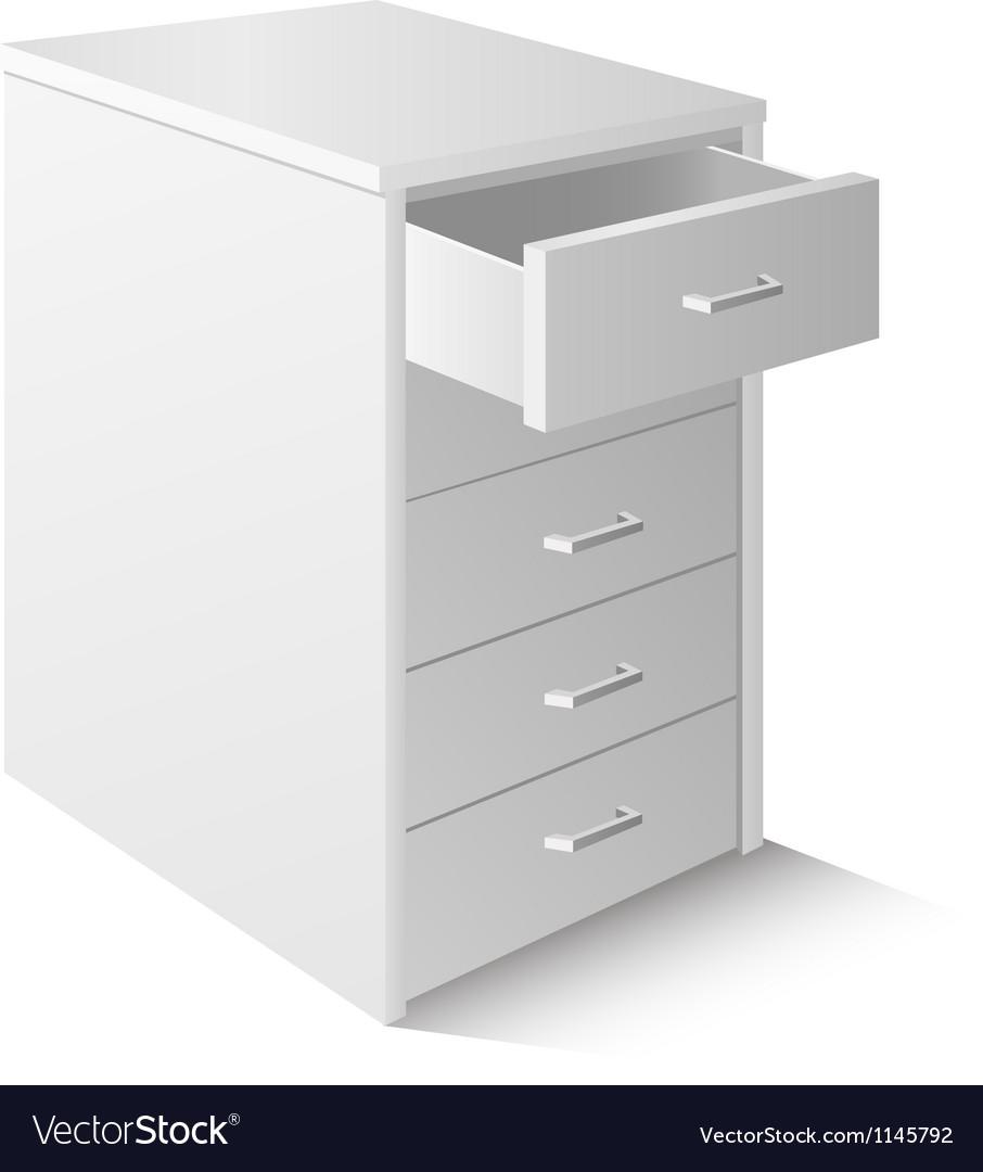 Office cupboard vector image