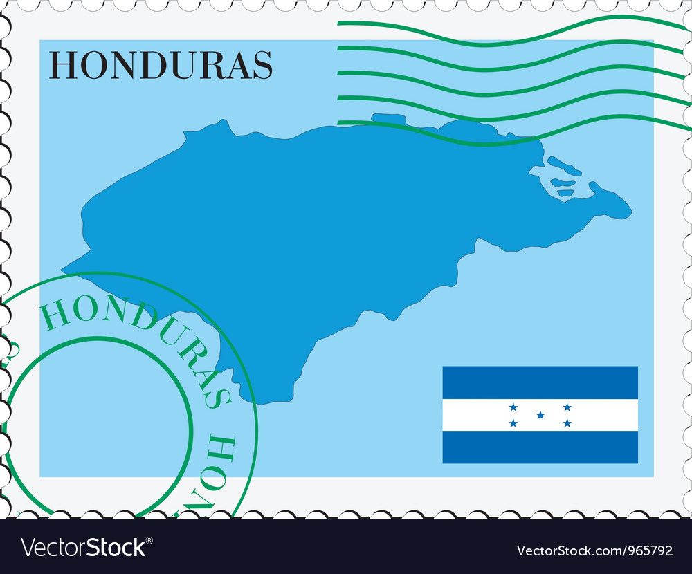 Mail to-from Honduras vector image