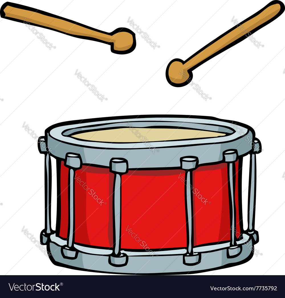 Red drum vector image
