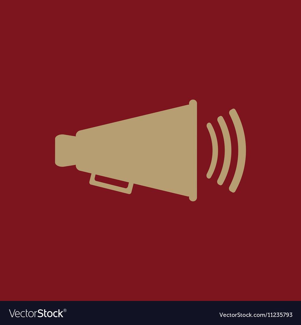The megaphone icon Bullhorn symbol Flat vector image