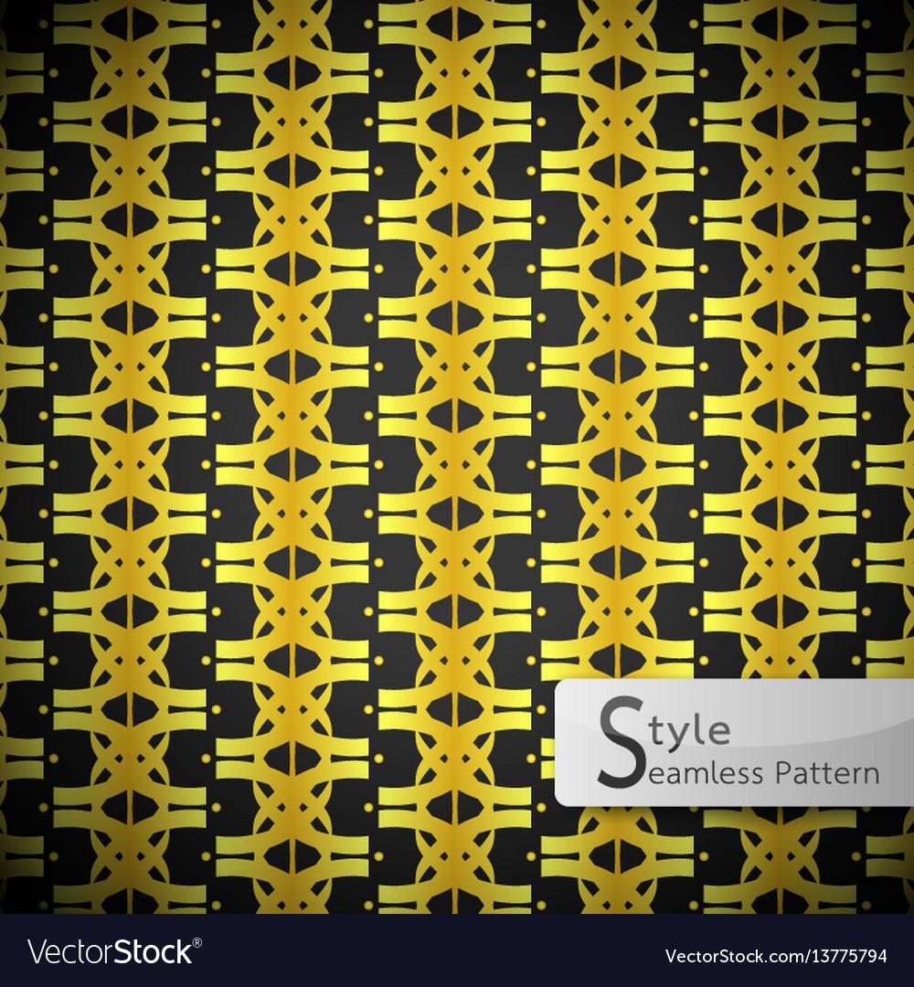 Flower golden row cross vintage geometric vector image