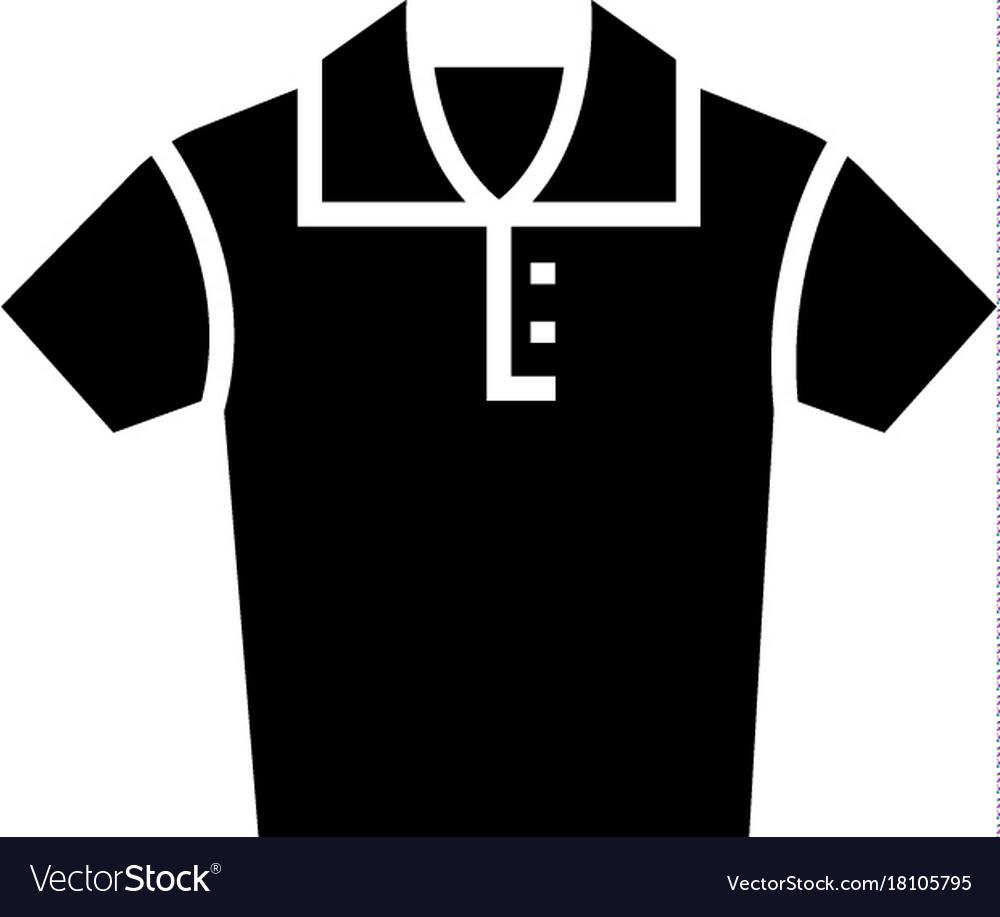 Polo shirt icon black sign vector image