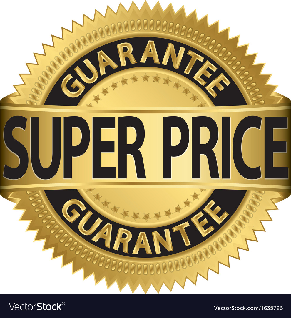 Super price guarantee golden label vector image