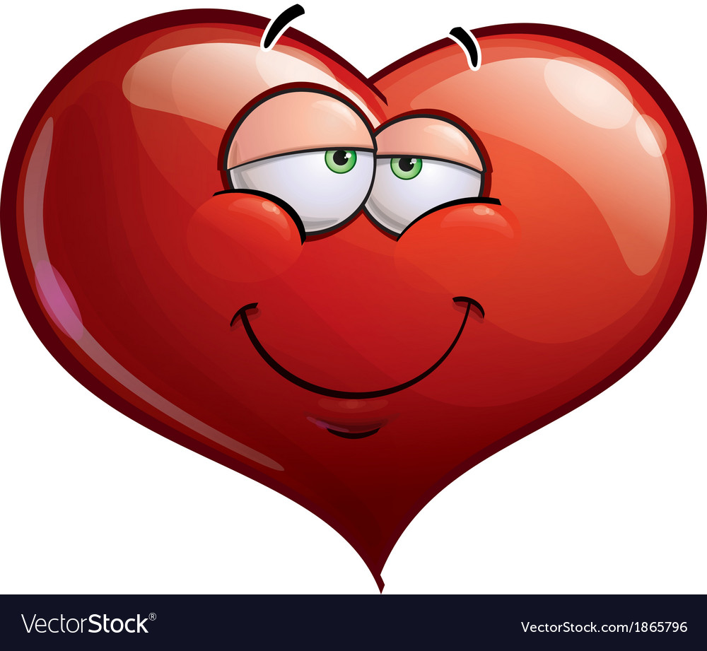 Heart Faces In Love vector image