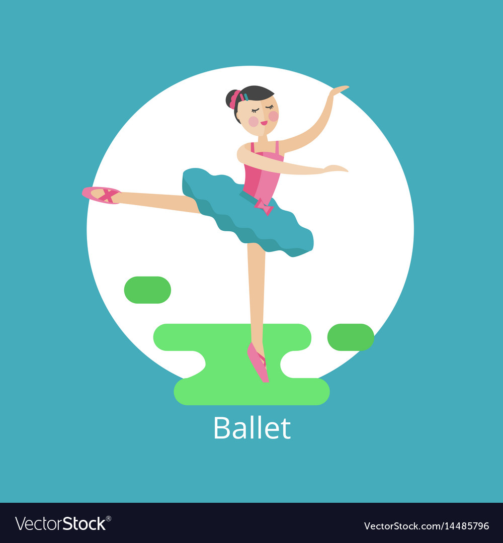 Icon of ballet vector image
