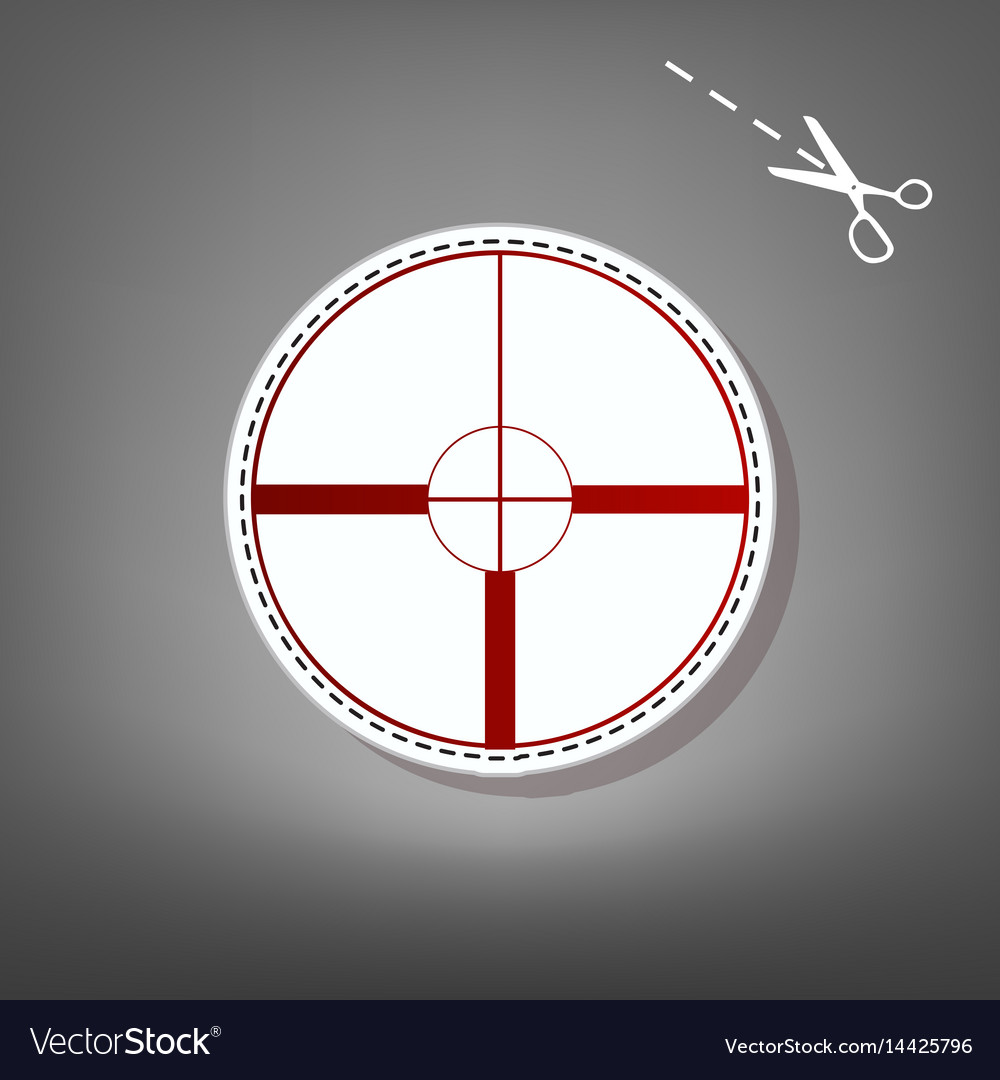 Sight sign red icon with for vector image