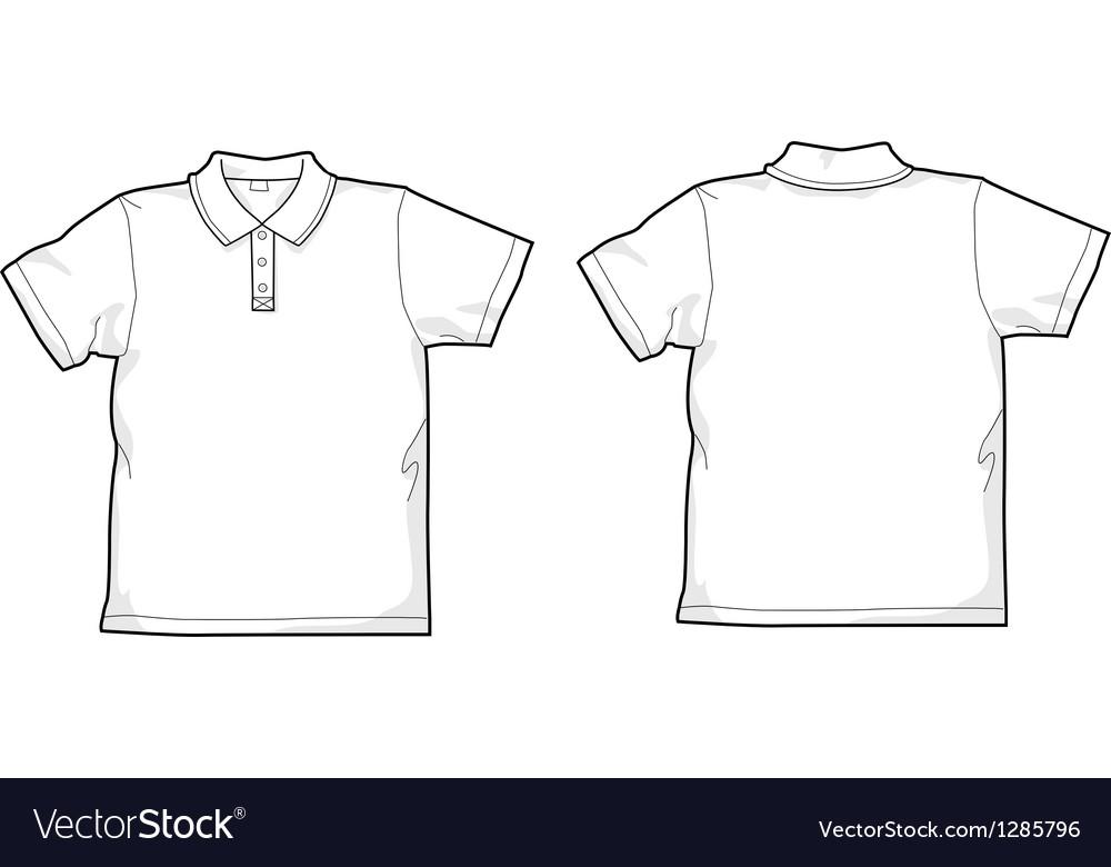 White polo-shirt vector image