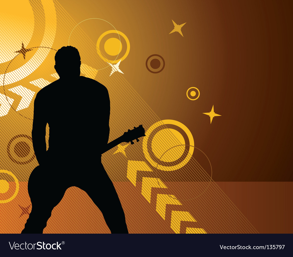 Rock group vector image