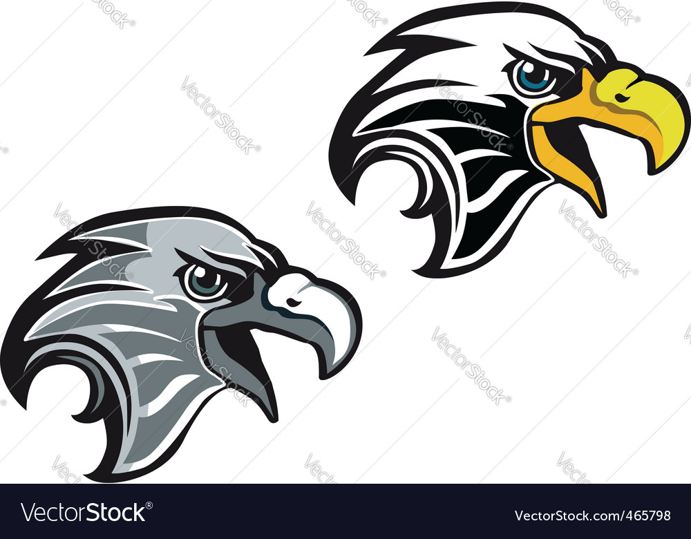 Cartoon eagle symbol vector image