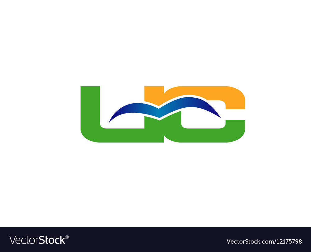 Letter U and C logo vector image