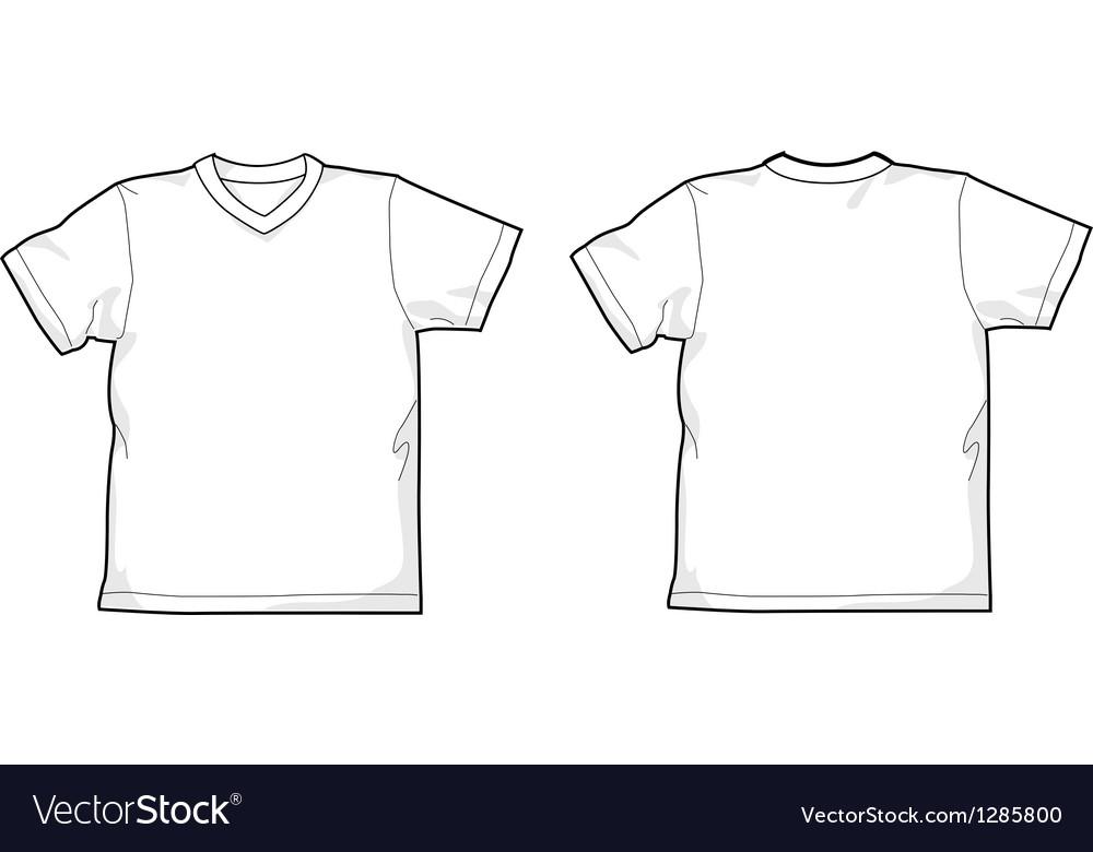 T-shirt V-neck vector image