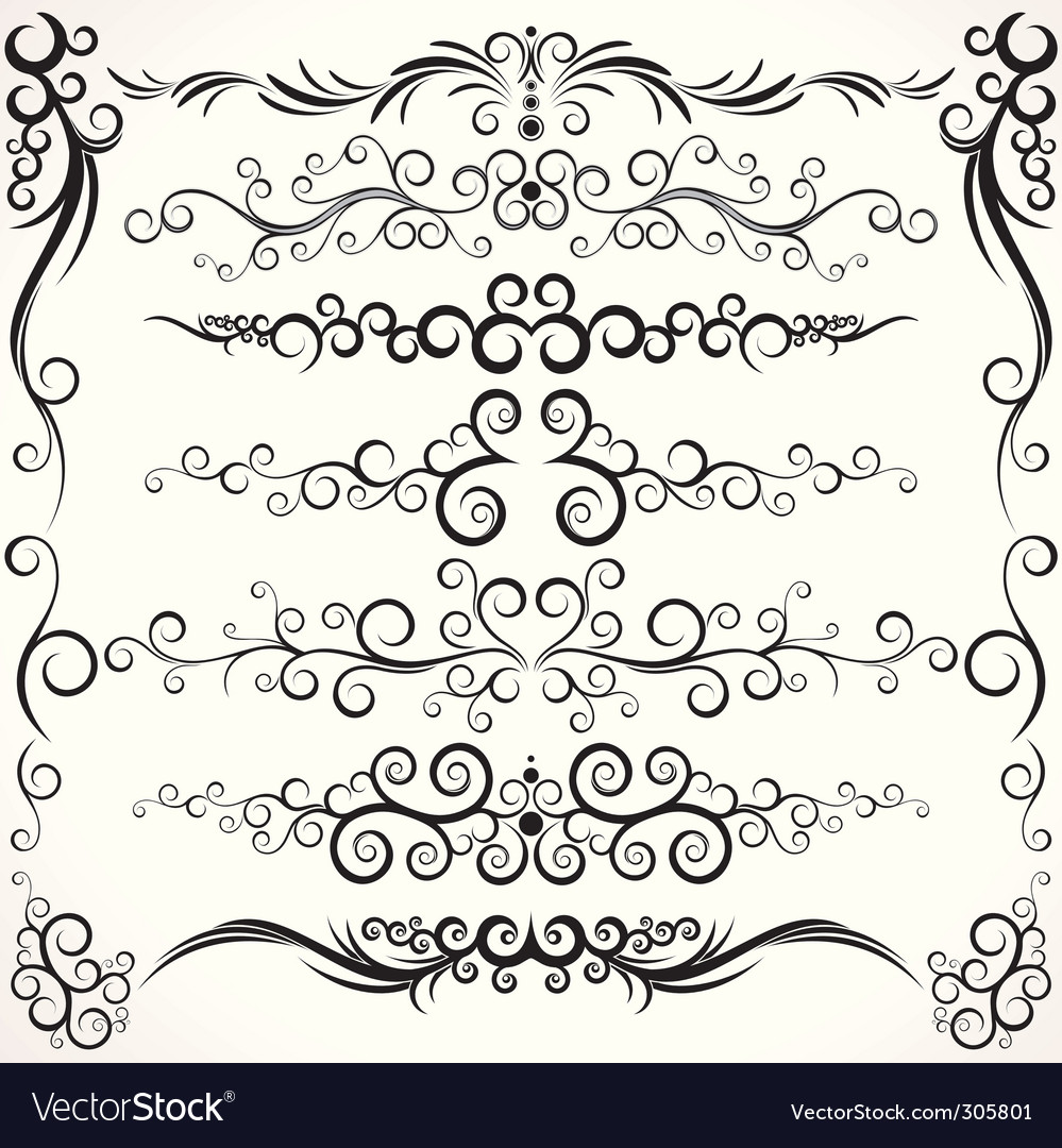Ornamental borders Vector Image