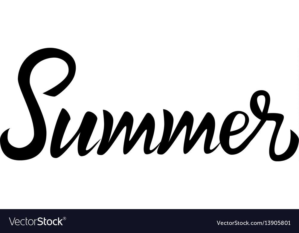 Summer lettering vector image