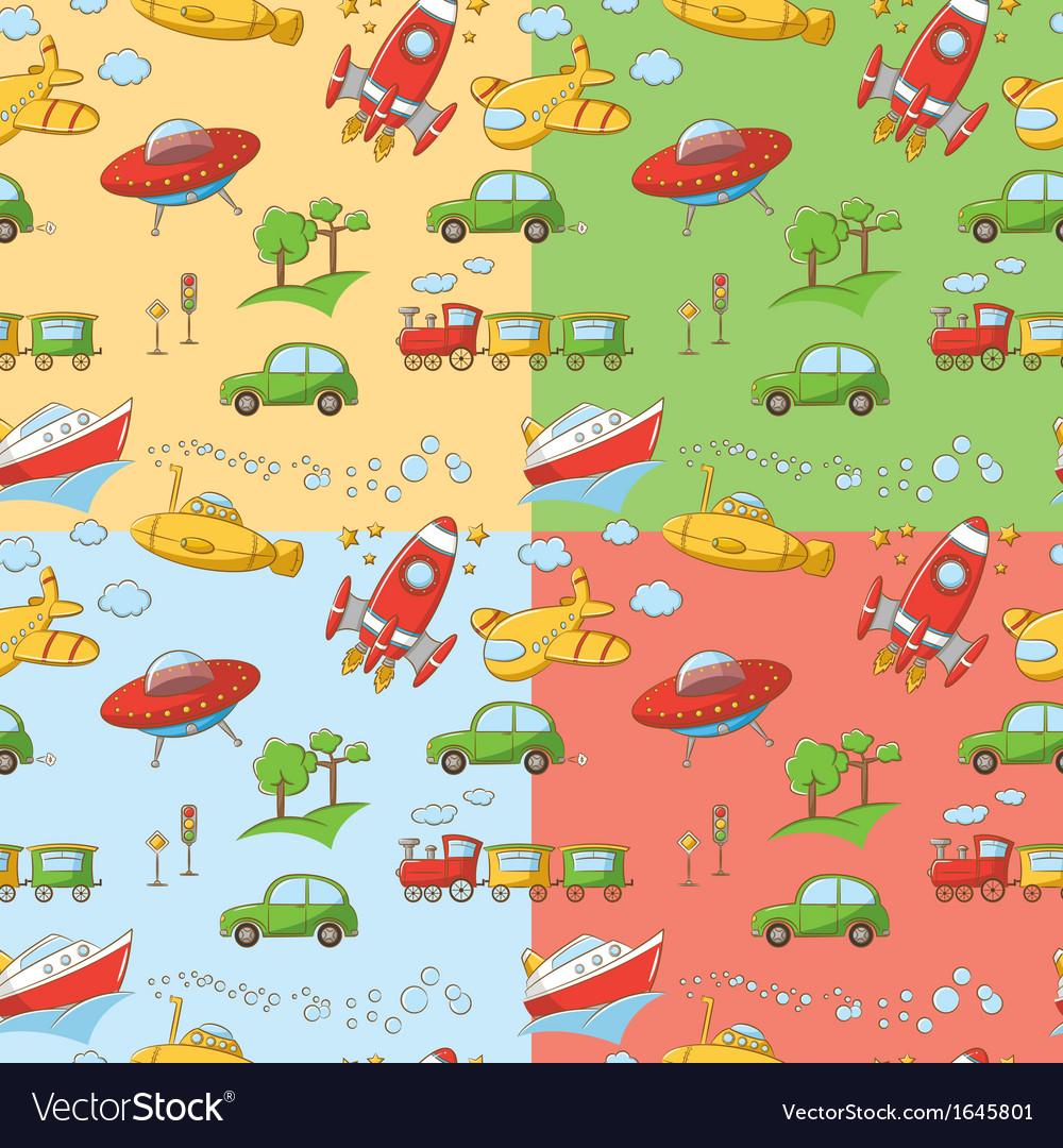 Transportation patterns vector image
