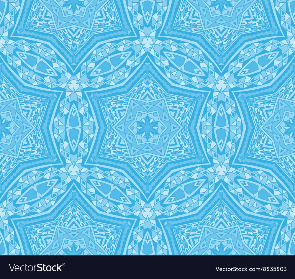 Seamless vintage winter pattern vector image