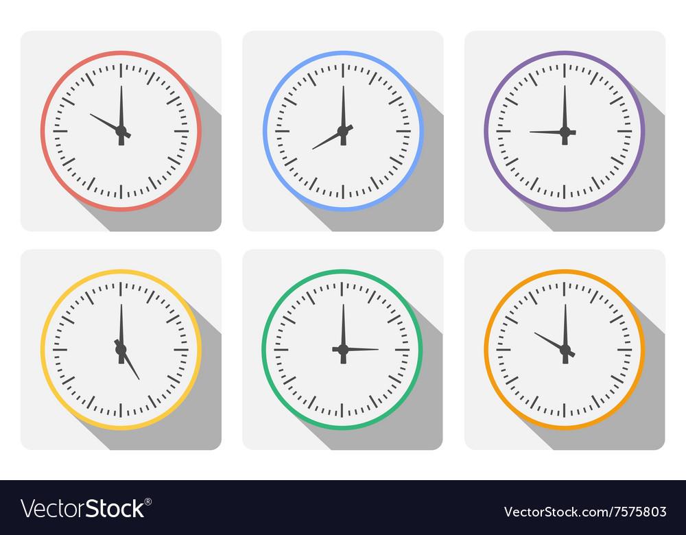Set clock vector image