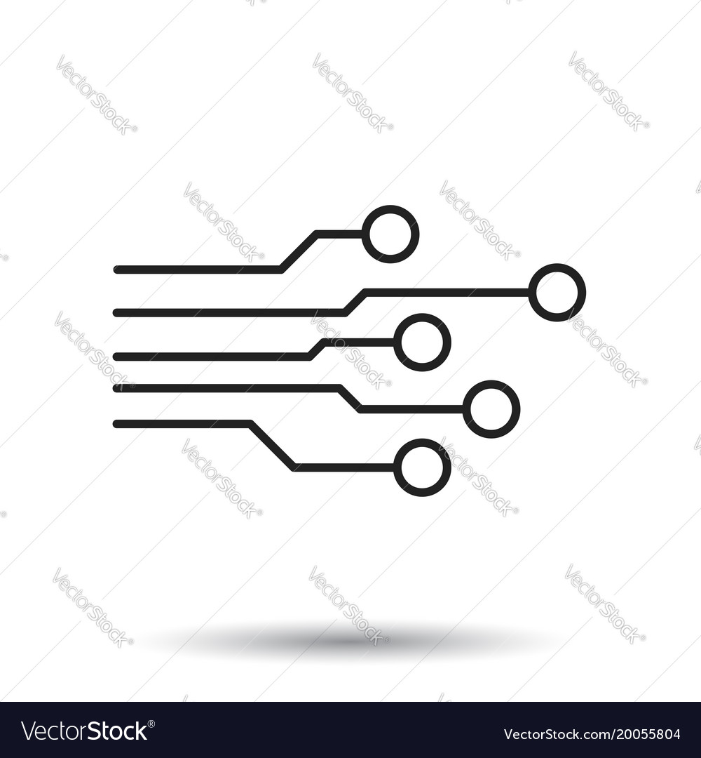 circuit board icon technology scheme symbol flat vector image rh vectorstock com vector circuit board background vector circuit board background