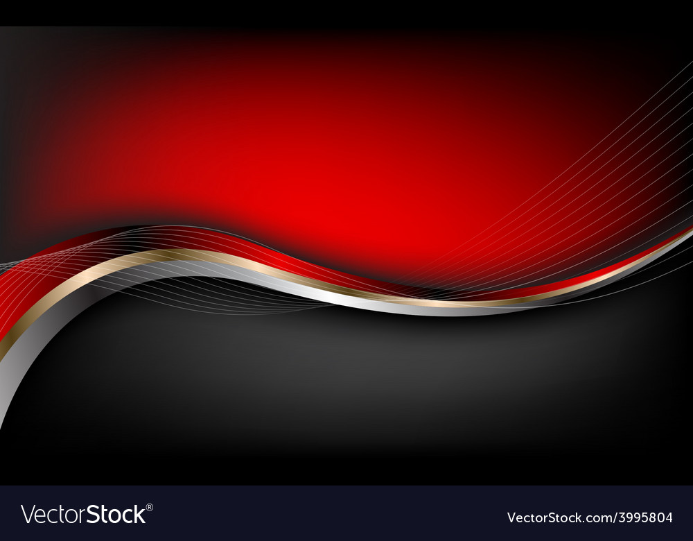 Stylish abstract red background vector image