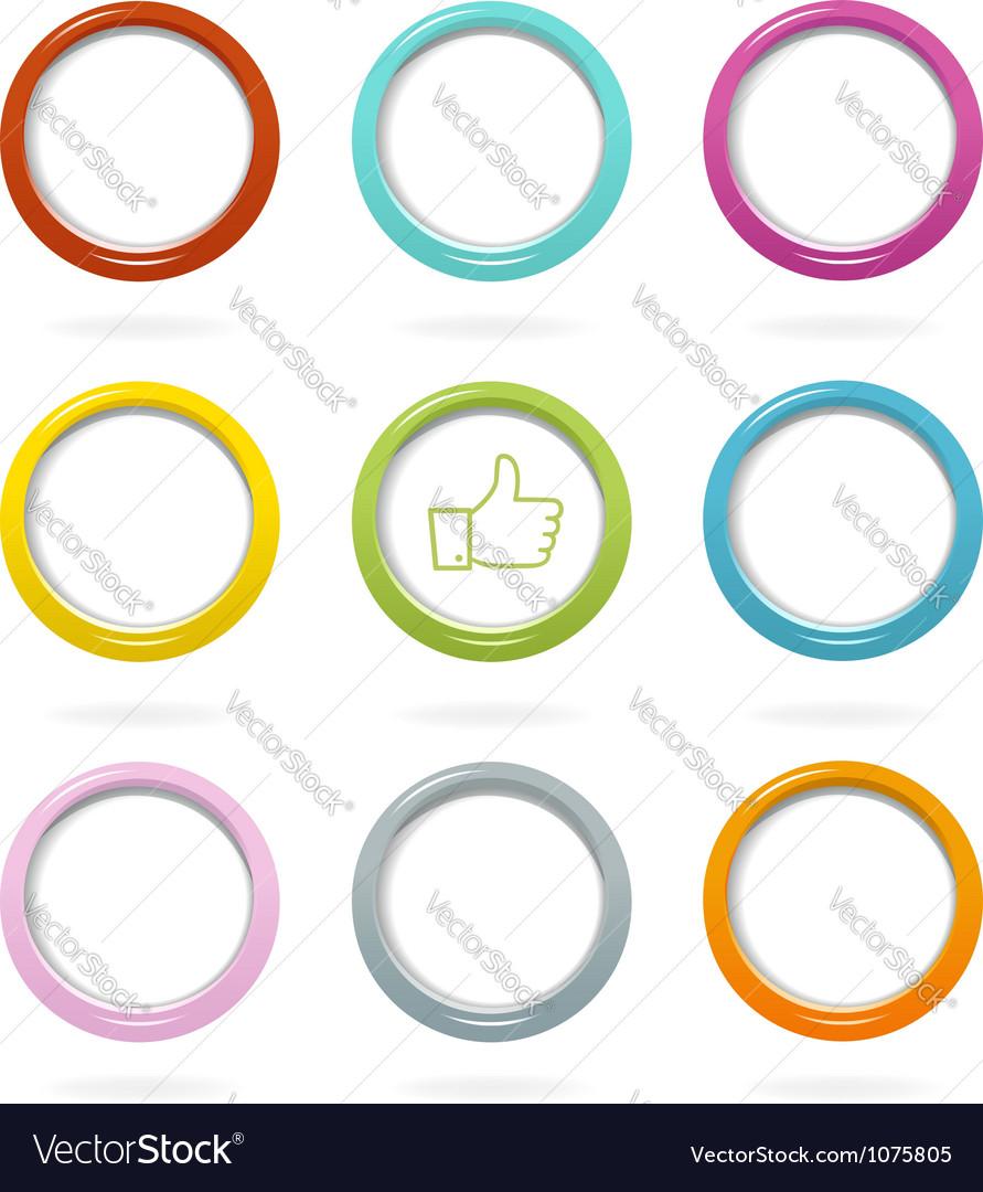 Colorful web bubbles set vector image