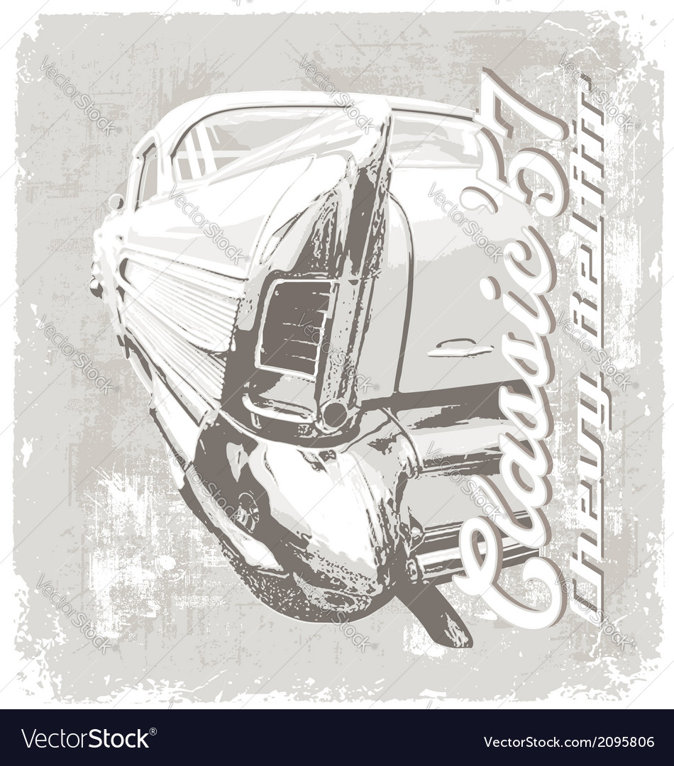 Classic chevy 57 vector image