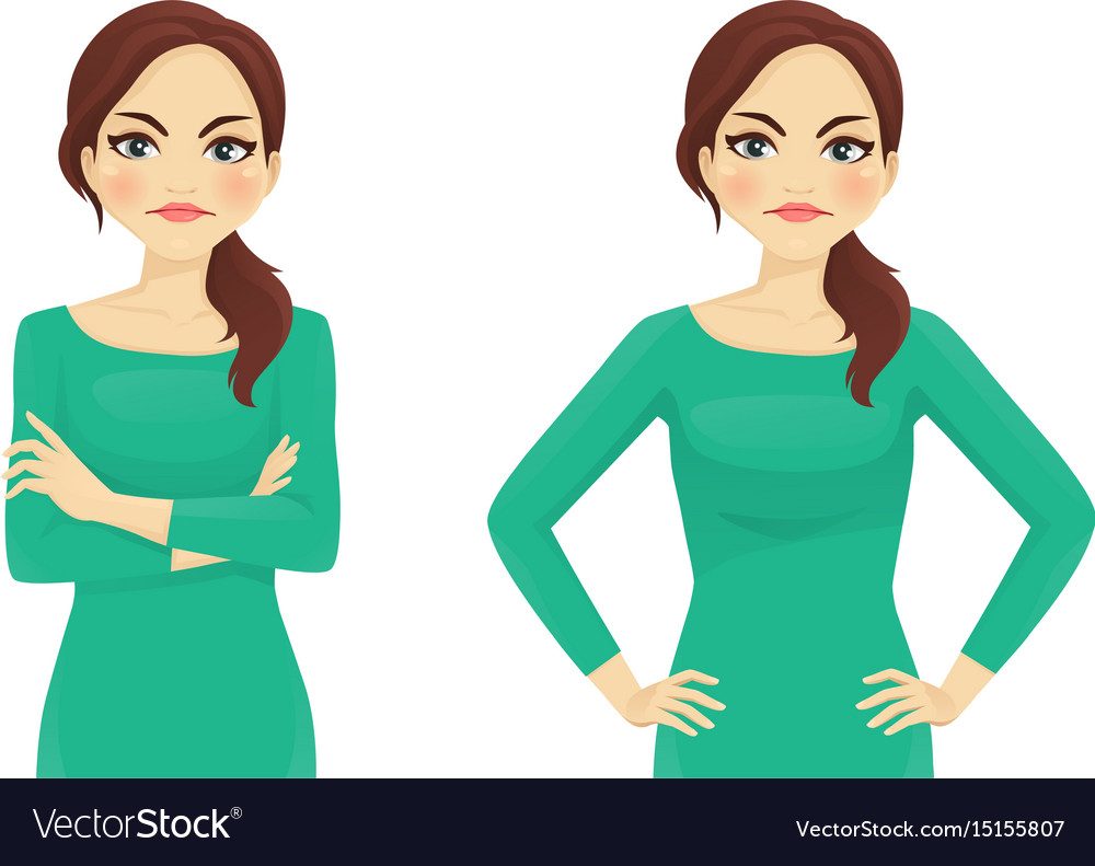 Woman angry emotion vector image
