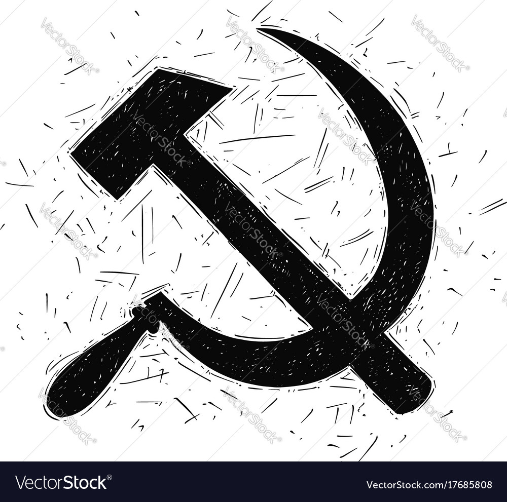 Communist symbol hammer and sickle drawing vector image biocorpaavc Gallery