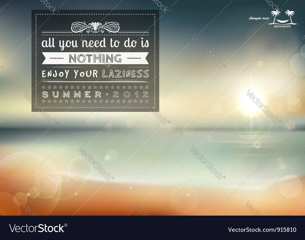 All you need to do is nothing vector image