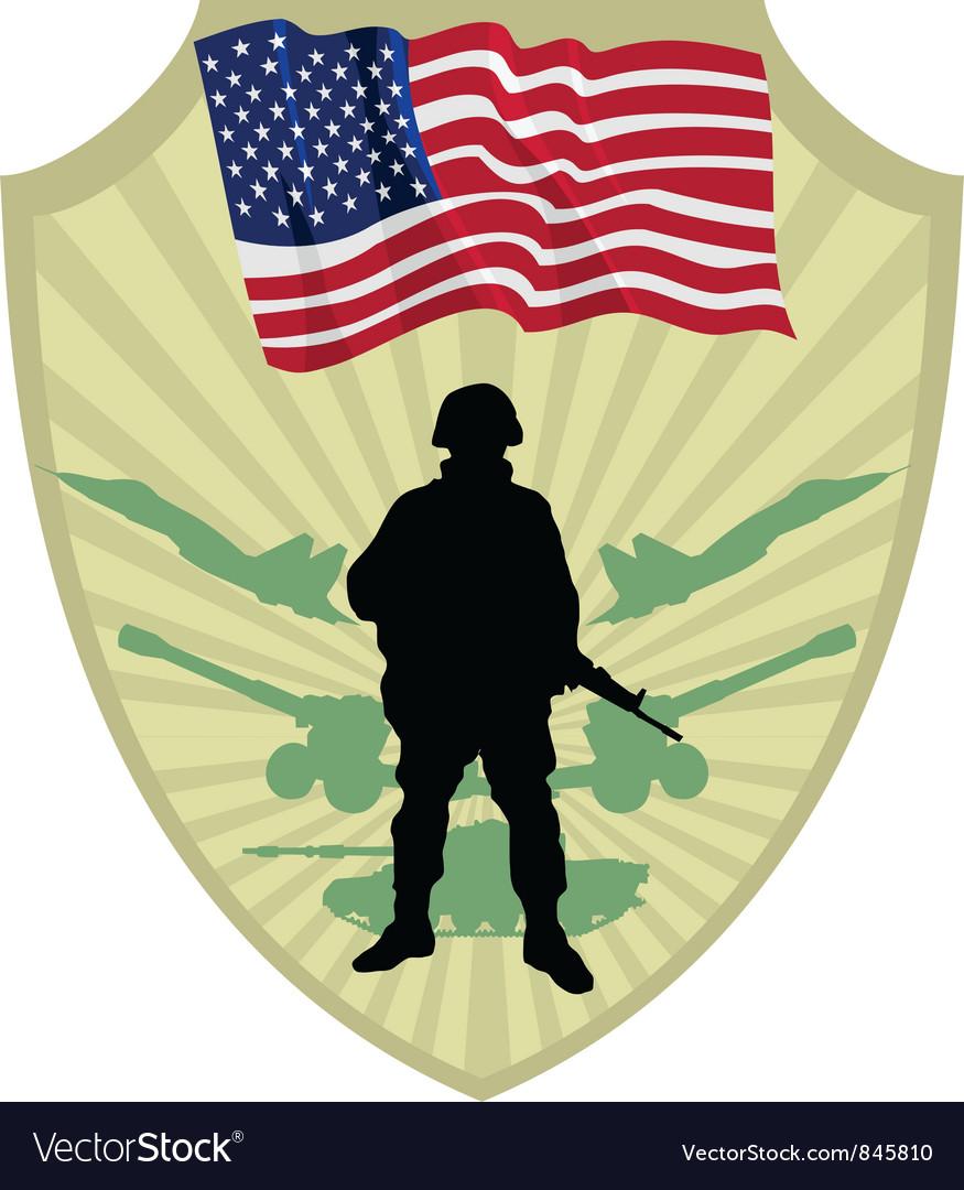Army of USA vector image