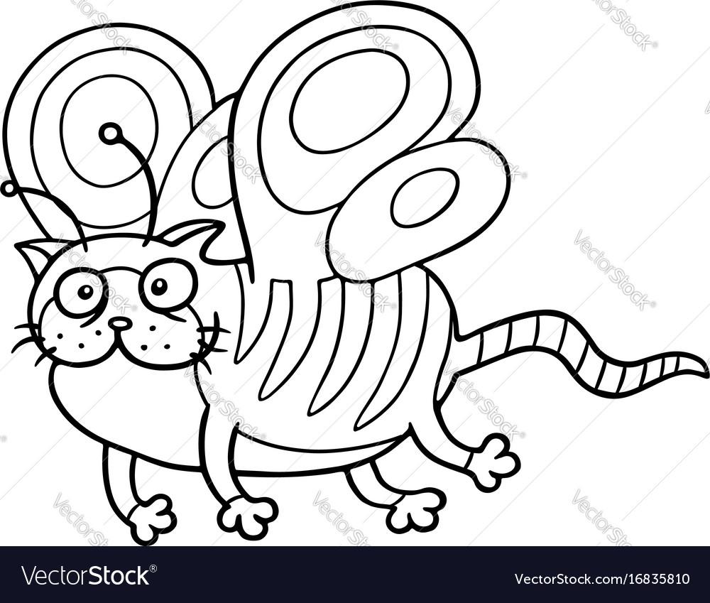 Cartoon fairy cat flight cute fur character