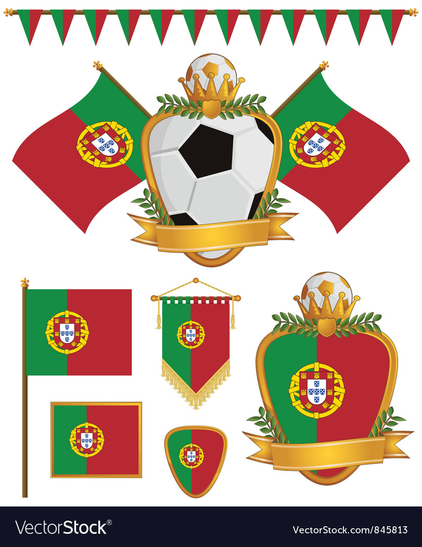 Portugal flags vector image