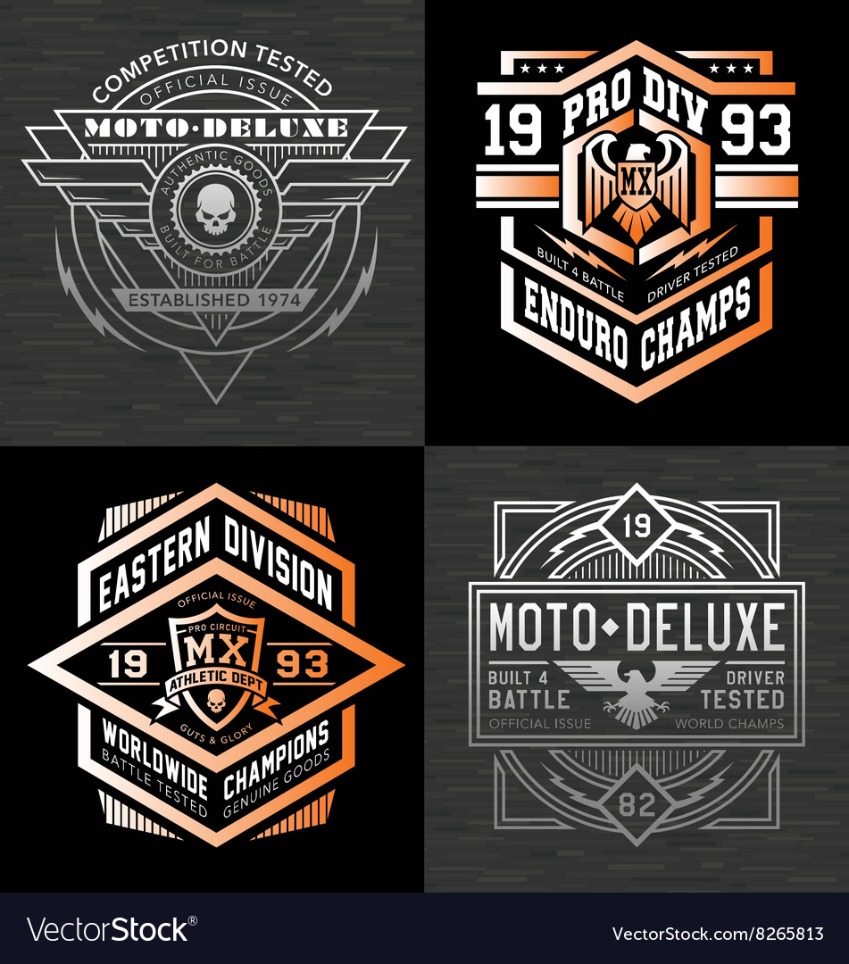 Motorcycle sports racing t-shirt graphics vector image