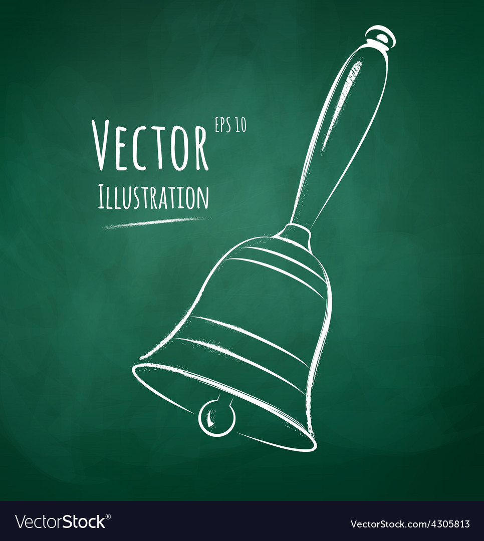 School bell vector image