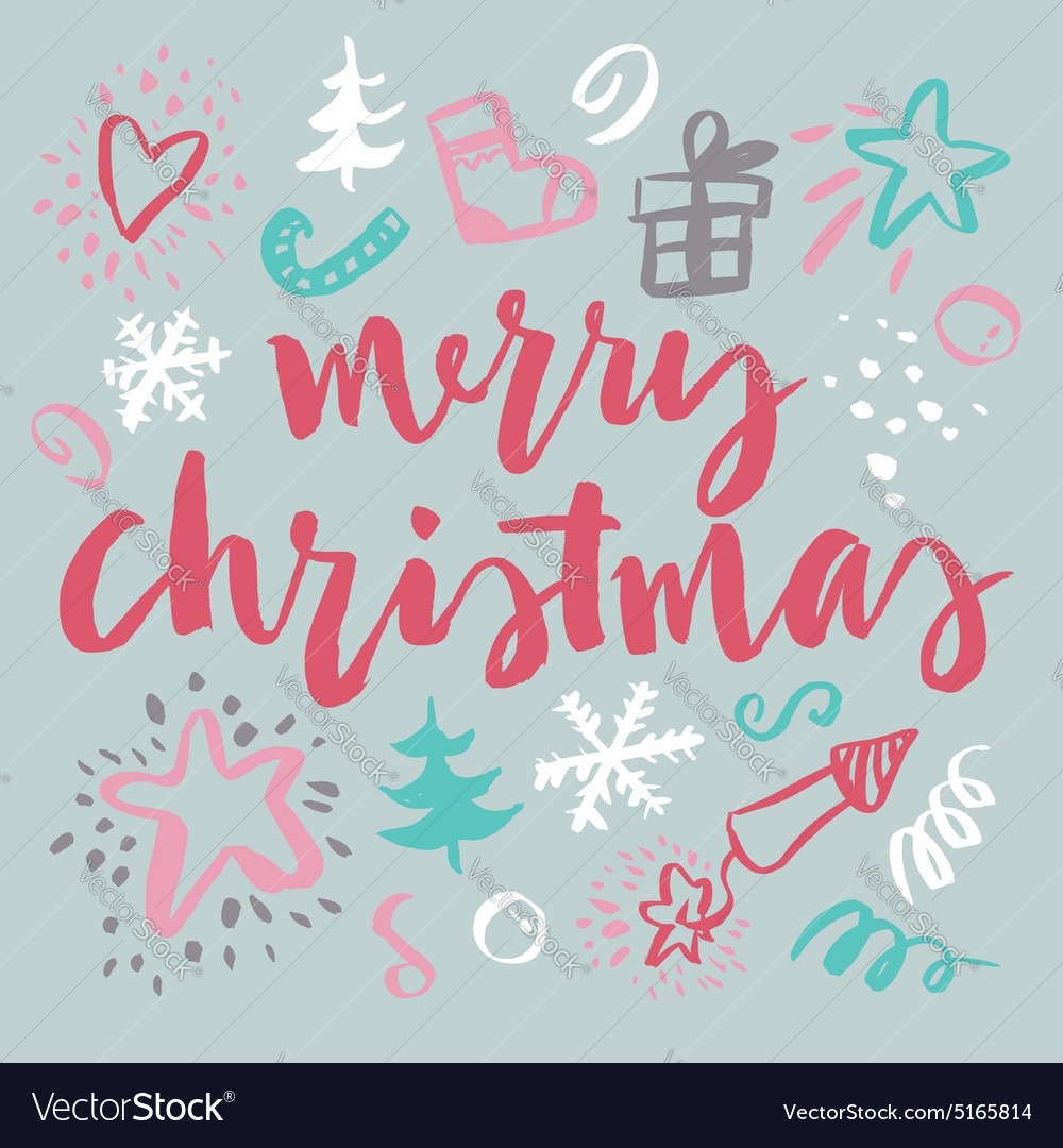 Happy New Year and Christmas vector image