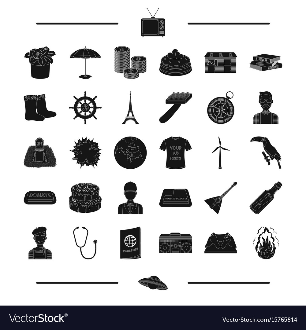 Music center fire phonendoscope and other web vector image