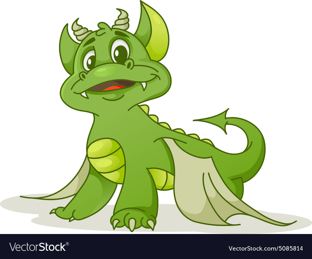 Small dragon vector image