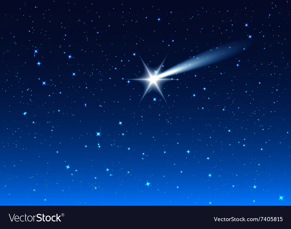 Night sky star drops in night sky make wish royalty free vector image vectorstock - Images night sky and stars ...