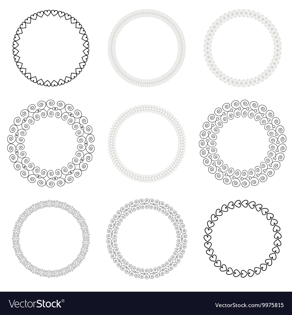 Vintage Drawn Frame Set vector image