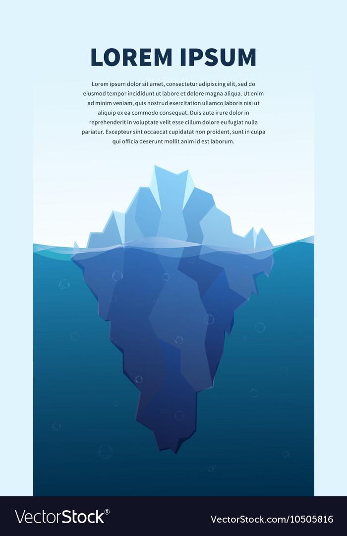 Big iceberg in the sea concept vector image