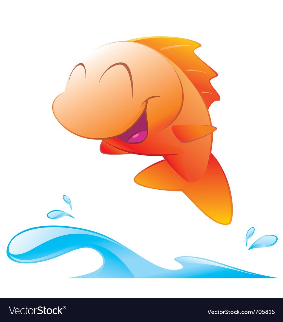 cute cartoon fish royalty free vector image vectorstock