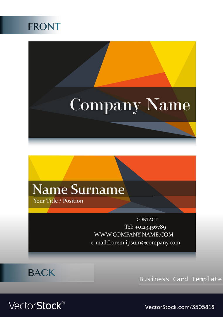 A company calling card Royalty Free Vector Image