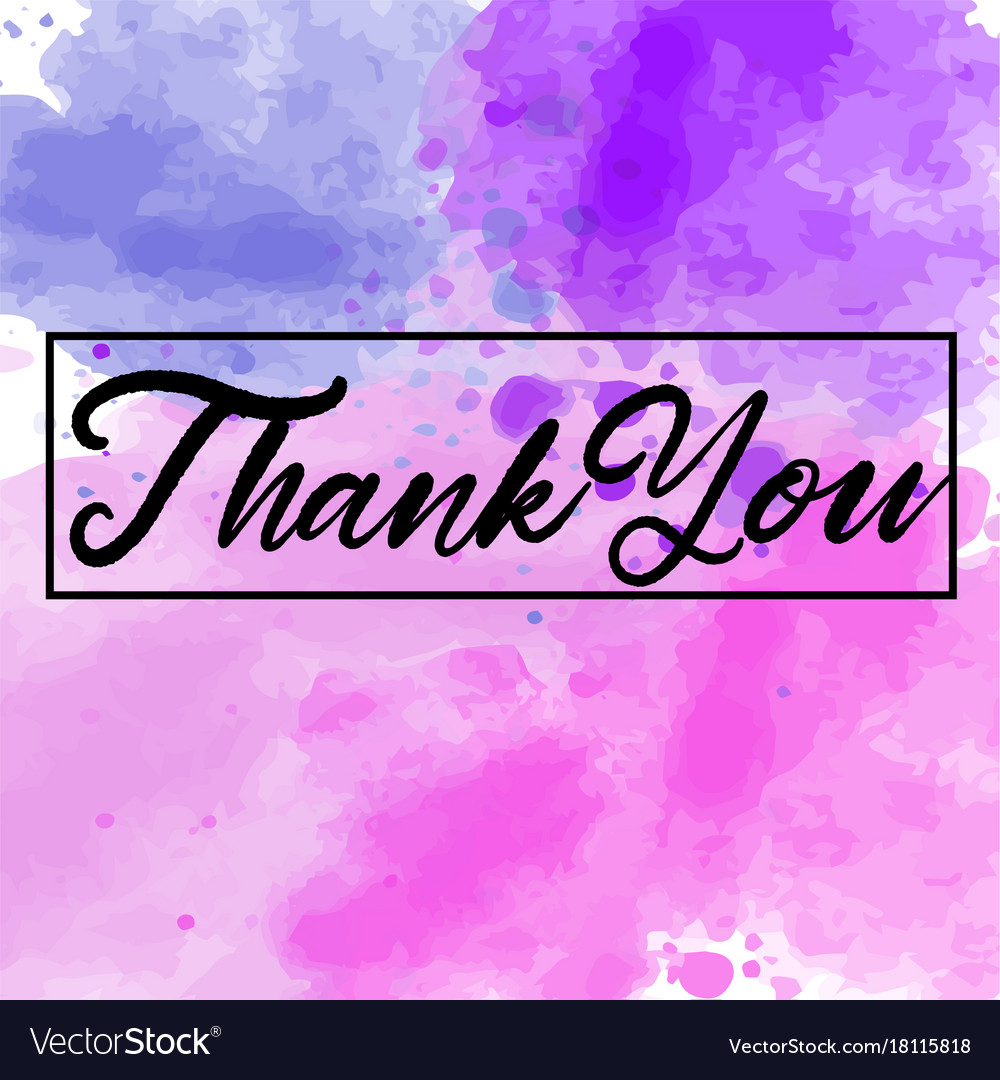 Download Lagu Thanku Next: Thank You Abstract Watercolor Background Vector Image