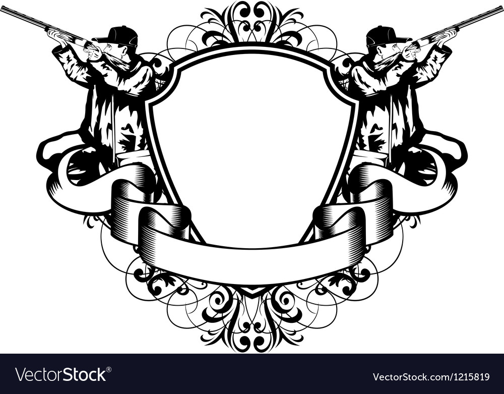 Huntings frame Vector Image