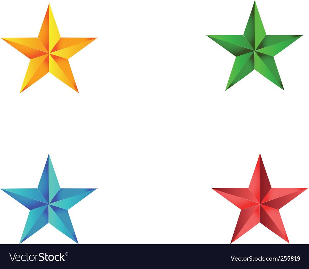Stars vector image