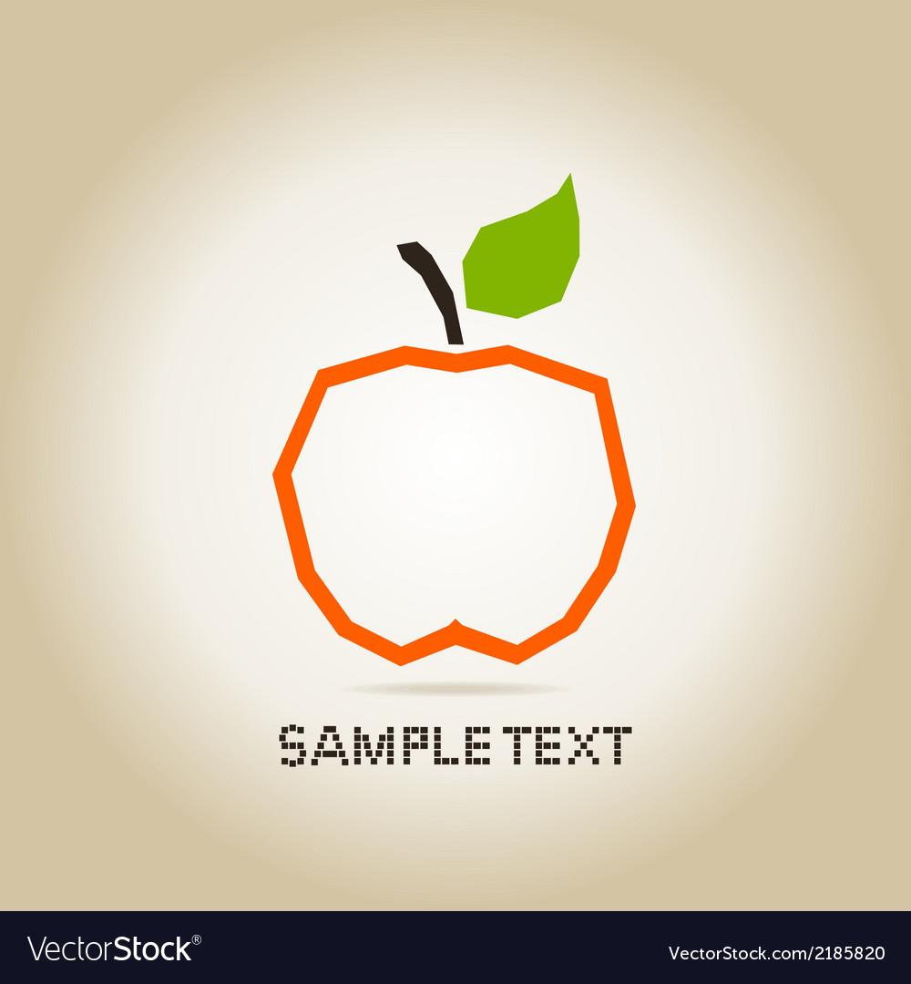 Apple orange vector image