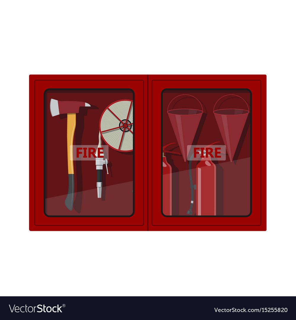 Perfect Fire Hose Cabinet On White Background Vector Image