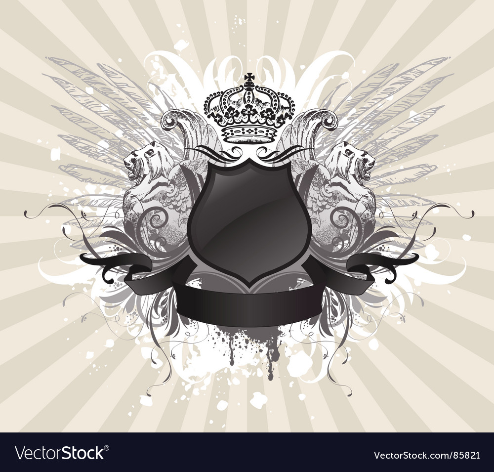 Vintage heraldic illustration vector image