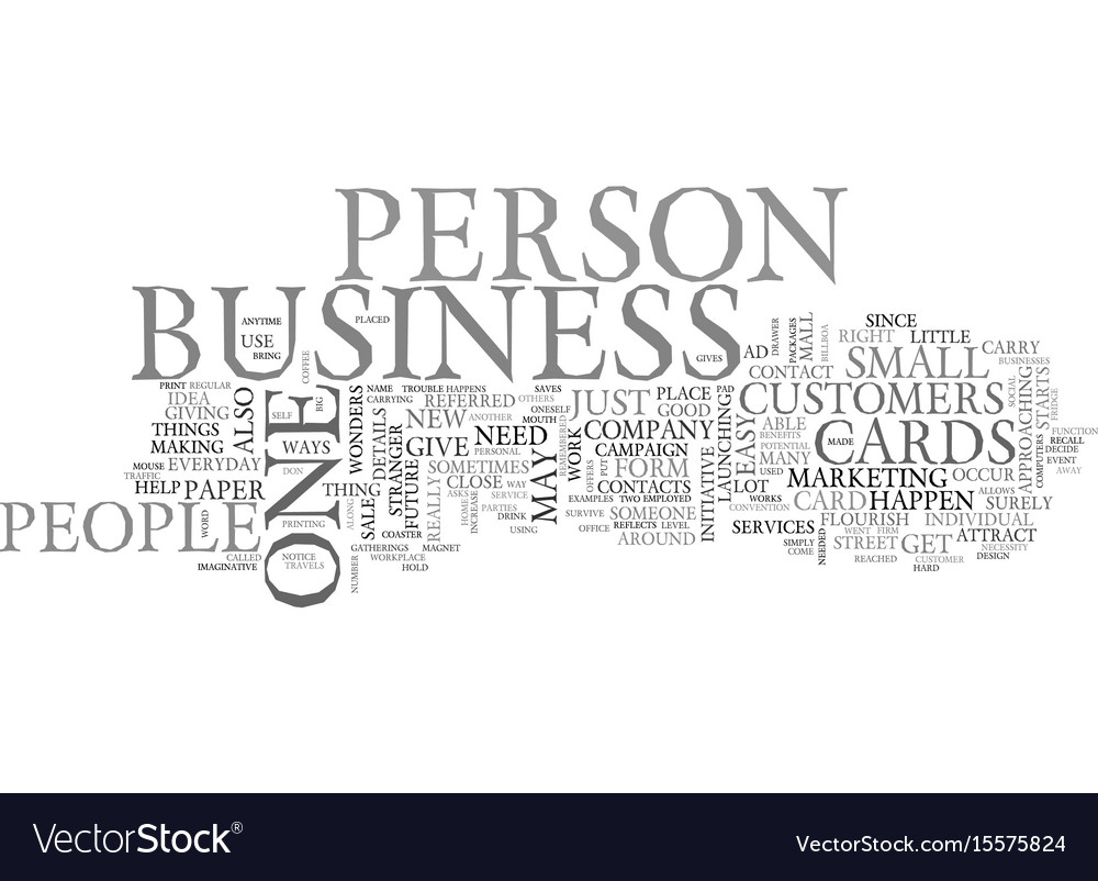 Benefits of the business cards text word cloud vector image colourmoves Gallery