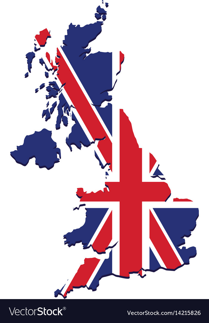 Flag of great britain vector image